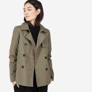 Everlane swing trench, olive, size M